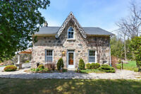 Eden Mills Stone Home on 3.84 Acres with Pub