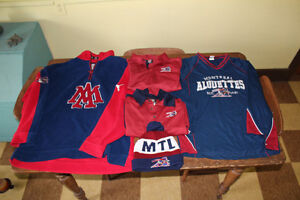 Montreal Allouettes Gear CFL Jacket shirts hat jerseys