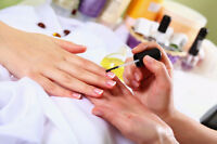 A manicure, pedicure, gel, or acrylic nails