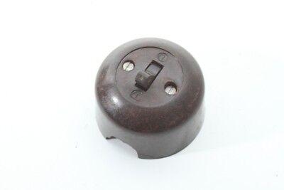 Old Toggle Switch Bakelite Exposed round Art Deco Loft Design Switch Light