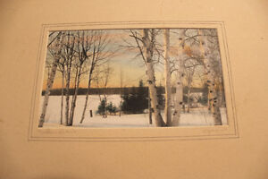 Pair of Hand Coloured Photographs of Northern Ontario - Signed London Ontario image 3