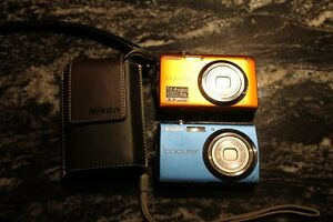 TWO Nikon Coolpix Camera's (S3000/S220) w/case,batteries/charger