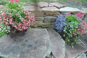 Natural landscaping rock