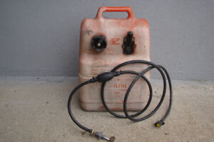 gas tank and hose