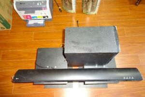 LG SH2 sound bar and subwoofer speakers with remote