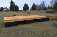 18 ' Cedar floating dock with dock floats