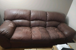 Free Leather Couch & Loveseat