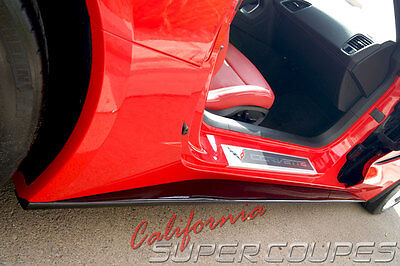 Corvette C7 Stingray Straight Style Side Skirts by CSC For Base Model 2014-2016 for sale  Shipping to Canada