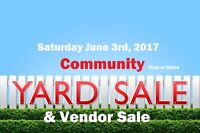 Community Yard and Vendor Sale