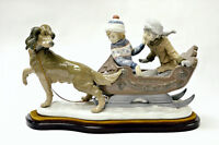 LARGE VINTAGE LLADRO SLEIGH RIDE FIGURINE at Heirlooms Antiques