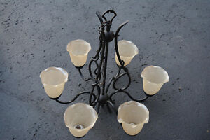 Iron cast ceiling light