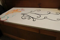 Storage Trunk from IKEA with a custom art design