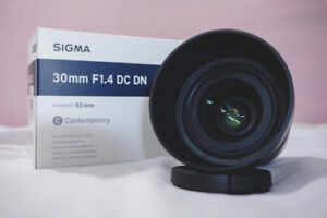 Sigma 30mm F1.4 Lens for Sony mount (E / FE)