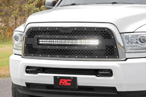 Rough Country - Combo Grille  w/30in Dual Row Blk Series Ram