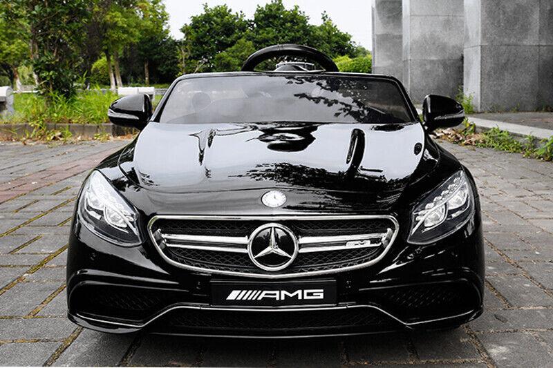 Lizenz Elektro Kinderauto Mercedes S63 AMG 2 x 35W 12V MP3 RC SCHWARZ