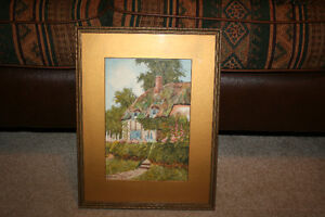 W.T. Wood Watercolor Painting  NEW PRICE