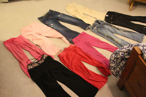 Lot of 9 pairs of Girls size 6 pants