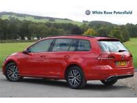 2017 Volkswagen Golf Estate SE 1.6 TDI 115PS 7-speed DSG 5 Door Diesel red Semi