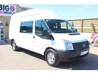 2012 FORD TRANSIT 350 TDCI LWB HIGH ROOF 8 SEAT MESS UNIT VAN LWB DIESEL
