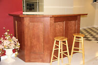 Wooden Bar with Shelf and 2 Stools for Sale - Mississauga