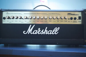 Marshall MG100 HDFX Guitar amp and Crate 4 X 12 Cabinet