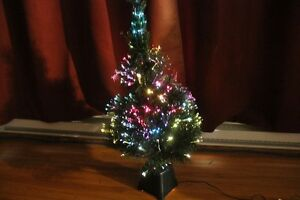 tree with Fiber optic lights
