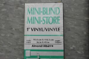 Mini Blinds 5 Brand New Almond Colour Still In Boxes