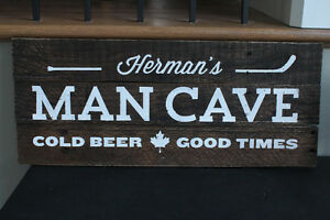 Custom Man Cave Sign from Reclaimed Wood