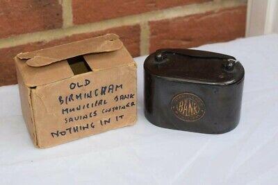 Antique Birmingham Municipal Bank Money Box - Metal - No Key