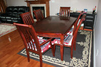 7 PIECES DINING TABLE SET