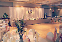 Tablecloths, Chair Covers, Napkins & Backdrops