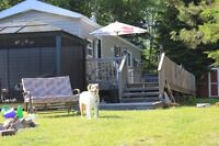 2009 Quailridge 12 X 44 Situated on Waterfront  Harcourt Ont.