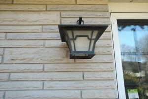 Light Fixture - Outdoor, Contemporary Wall Mounted Lanterns Set