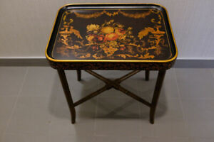Beautiful Chinoiserie Painted Tray Table - Rare!