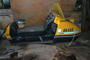 Vintage skidoo and parts for sale