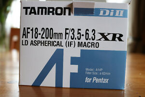 Tamron AF 18-200mm for Pentax London Ontario image 1