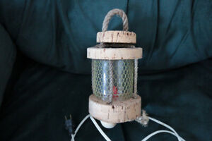 Cork Lamp with electric red light
