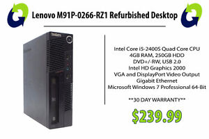 Lenovo M91P-0266-RZ1 Refurbished PC - 360 Computers