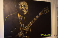 Original B.B.King painting by prominent artist Paul Murray live