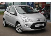 2011 FORD KA 1.2 Zetec GBP30 TAX, ALLOYS, HTD SCREEN and AIR CON