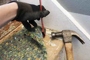 Carpet removal & installation services