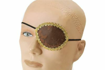 Brown Eye Patch + Gold Trim, Pirate Fancy Dress Theme Christmas panto Ideas - Sailor Costume Ideas
