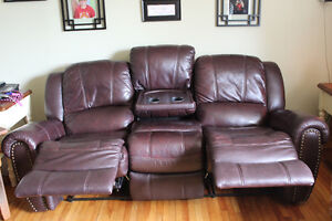 For Sale:Reclining Leather Chesterfield