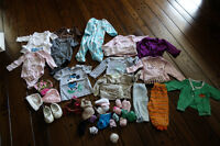 About 40 pieces baby girl clothing