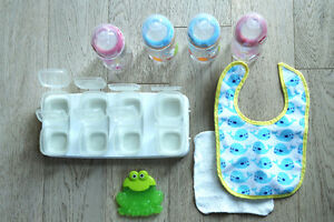 NEW NUK baby bottles, storage containers, teething toy, etc.