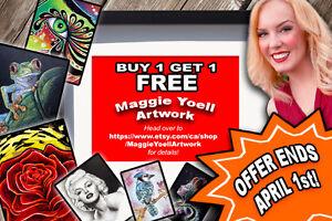 --- HUGE ART SALE --- Offer expires April 1st!!   :)