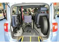 Fiat Multipla Wheelchair upfront next to driver mobility car Disabled accessible