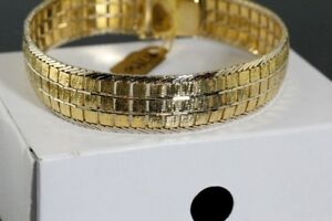 NEW SOLID STAMPED 750 ITALIAN 18K. GOLD HEAVY BRACELET