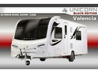 Bailey Unicorn Black Edition Valencia, 2021 NEW, 4 Berth, Touring Caravan
