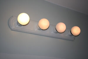 4 Light Vanity in gloss white finish